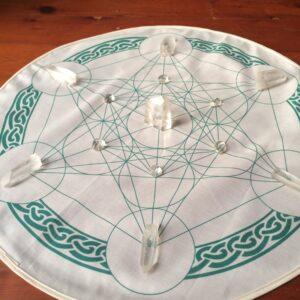 Celtic Metatrons Cube Crystal Grid Cloth