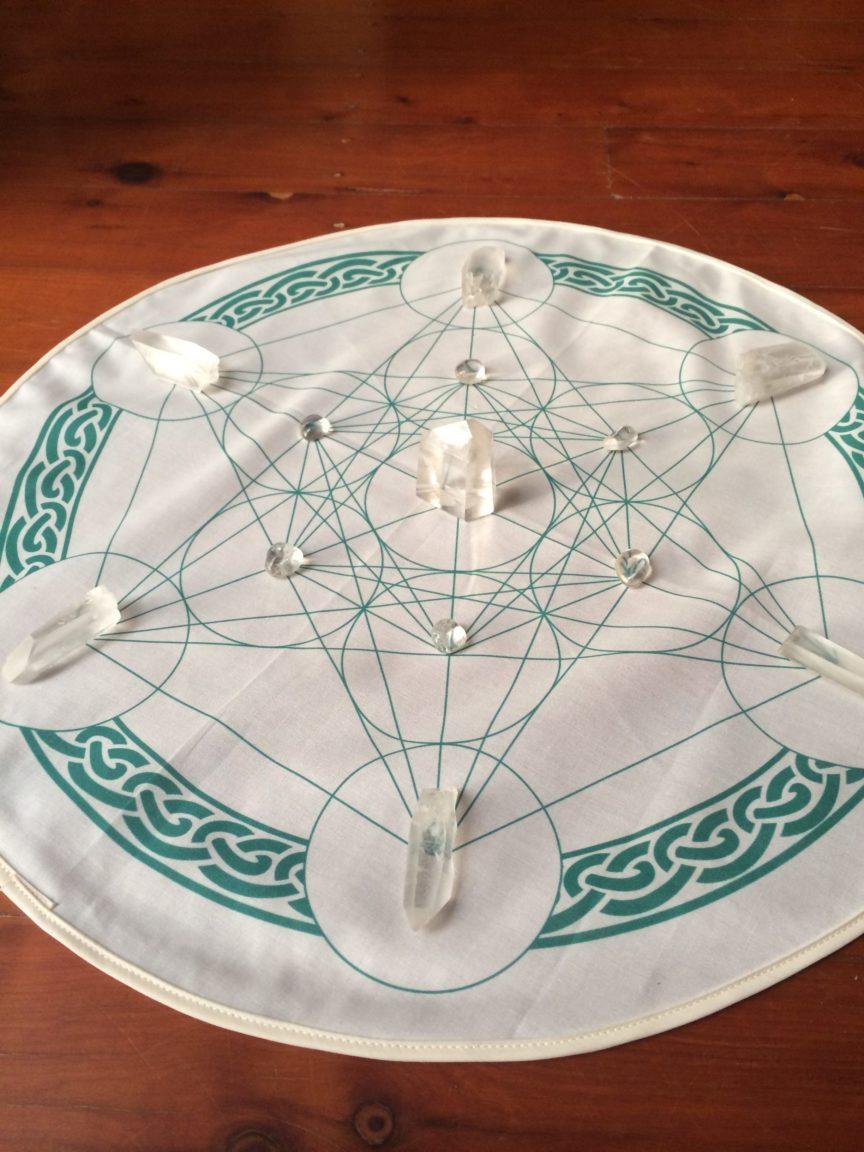 Celtic Metatrons Cube Crystal Grid Cloth
