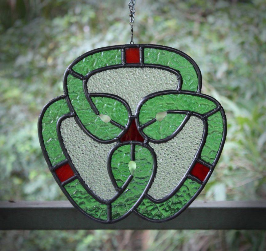 celtic knot leadlight