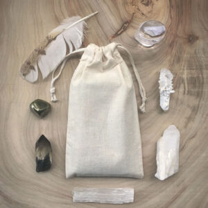 Crystal Grid Oracle Calico Travel Pouch Bag